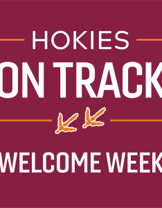 Hokies on track welcome week logo at virginia tech also new student programs rh nsp vt