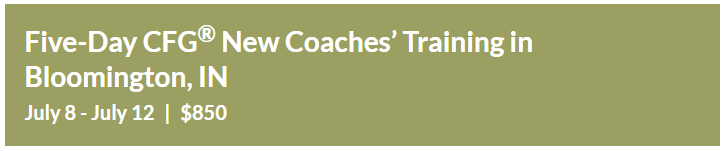 Five-Day CFG® New Coaches' Training, Bloomington, IN July 8 – 12 |$850