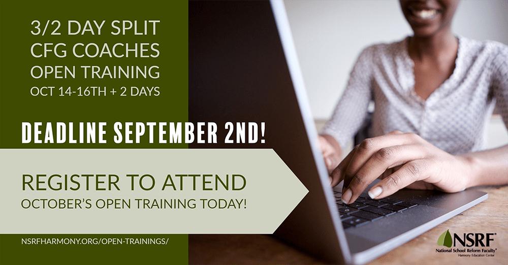 October Open Training Deadline Approaching September 2nd
