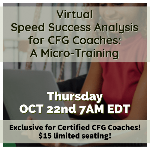 Virtual Speed Success Analysis Micro-Training 7AM EDT