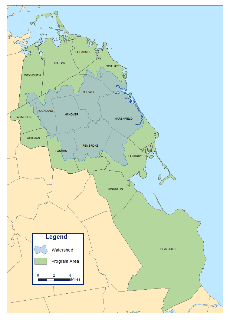 Map Of South Shore Ma : south, shore, Where, North, South, Rivers, Watershed, Association