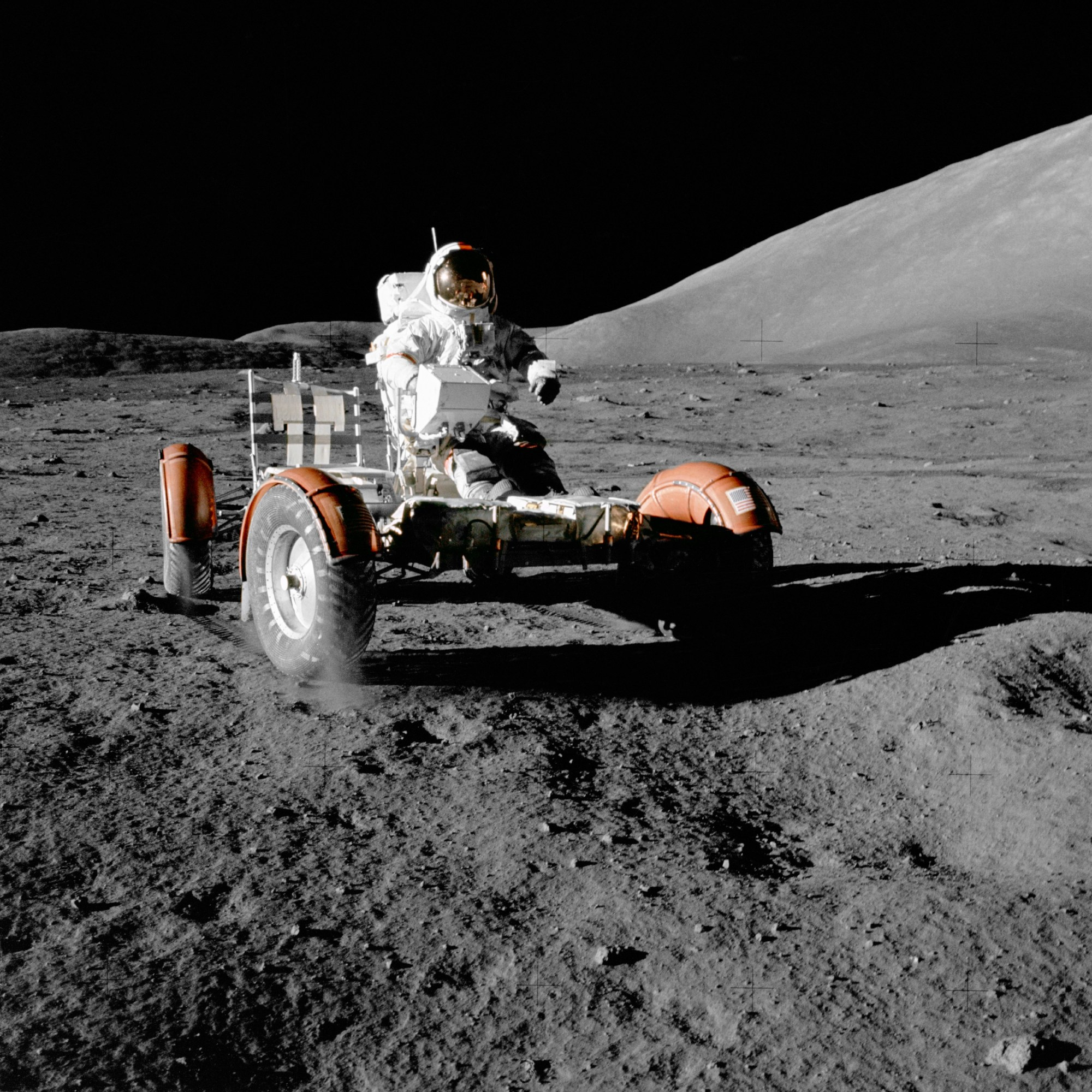 hight resolution of  apollo 17 lunar roving vehicle