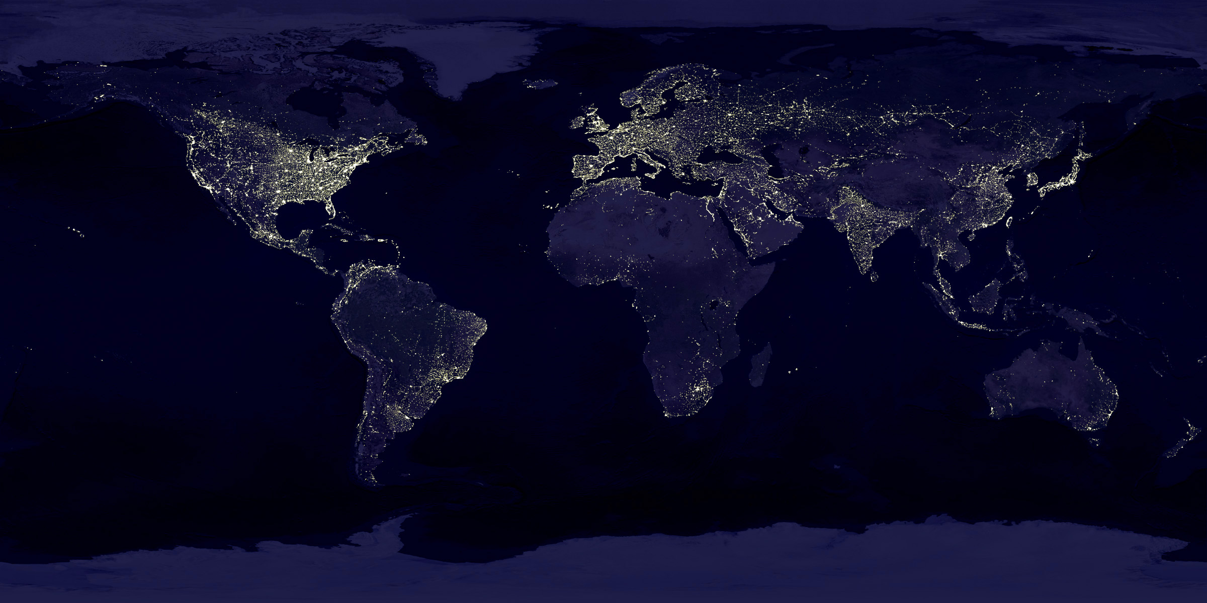 earth lit up