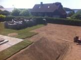 Anlægning af ny plæne med rullegræs i Birkerød.