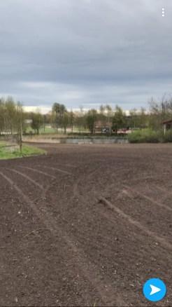 5500 m2 omlagt plæne i Fredensborg.