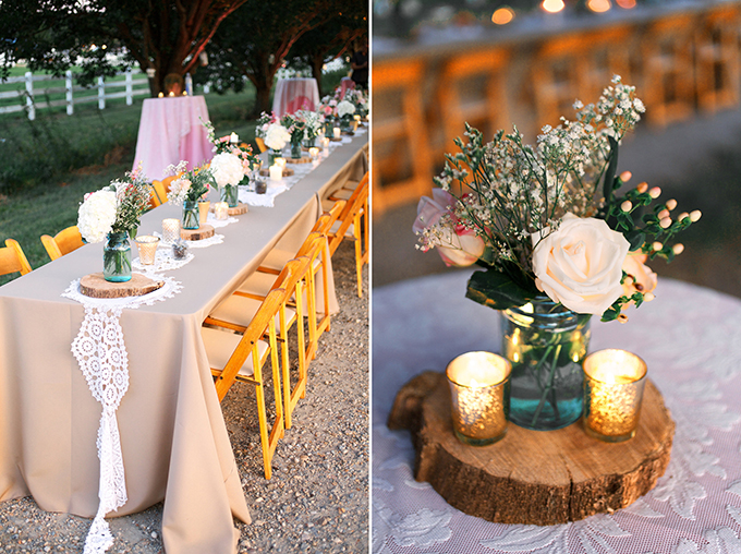 Rustic Vintage Beach Wedding featured on Glamour and Grace