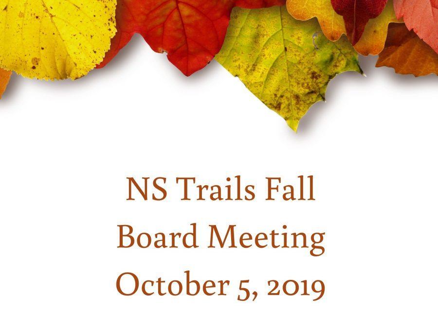 NS Trails Fall Board Meeting