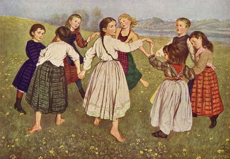 """Children's Dances,"" by Hans Thoma (1872)"