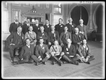 Fig 3: Waratahs managing committee, Sargent's Cafe, Sydney, 17/12/1915