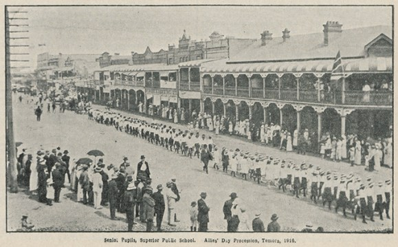 [Fig. 1] Allies Day procession featuring Temora school children, 1916. From AK698, Vol. X, No. 9, September 1916, p.295