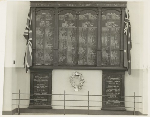 Bathurst Public School (WWI) Roll of Honour, 30/09/1954. Digital ID: 15051_a047_000789