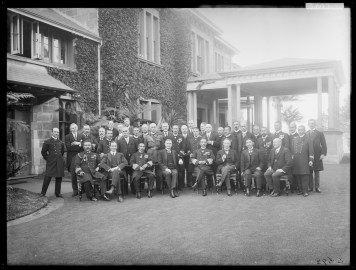Japanese admirals and officers at Cranbrook State Governor's House, July 1915. From NRS 4481 ST5693P.