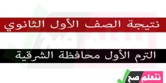 نتيجة الصف الأول الإعدادي الترم الأول محافظة الشرقية برقم الجلوس