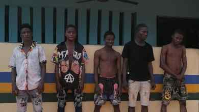 Photo of Five Cultists arrested over the death of a 25-yrs Old man in Ogun