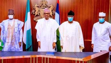 Photo of Defection: Buni Presents Dimeji Bankole, Daniel To Buhari