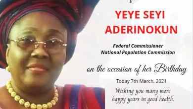 Photo of Celebrating Yeye Seyi Aderinokun on her Birthday