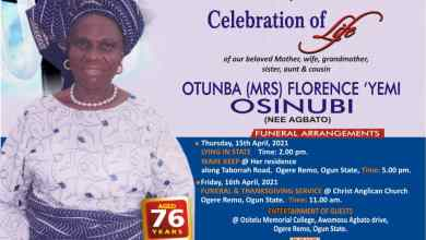 Photo of Celebration: Otunba (Mrs) Florence Yemi Osinubi