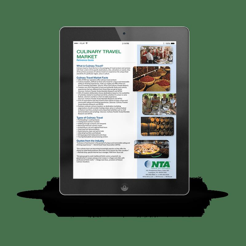Culinary Travel Market Ipad | NTA | Article