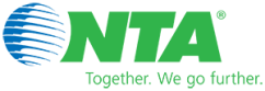 NTA Online Logo | Blue and Green | Together. We go further|