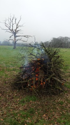 A great big bonfire.