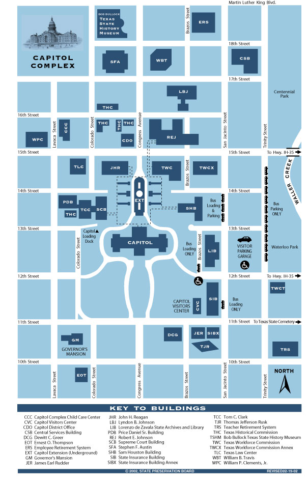 Map Of Texas Capitol.Texas State Capitol Maps And Directory North Texas Citizens Lobby