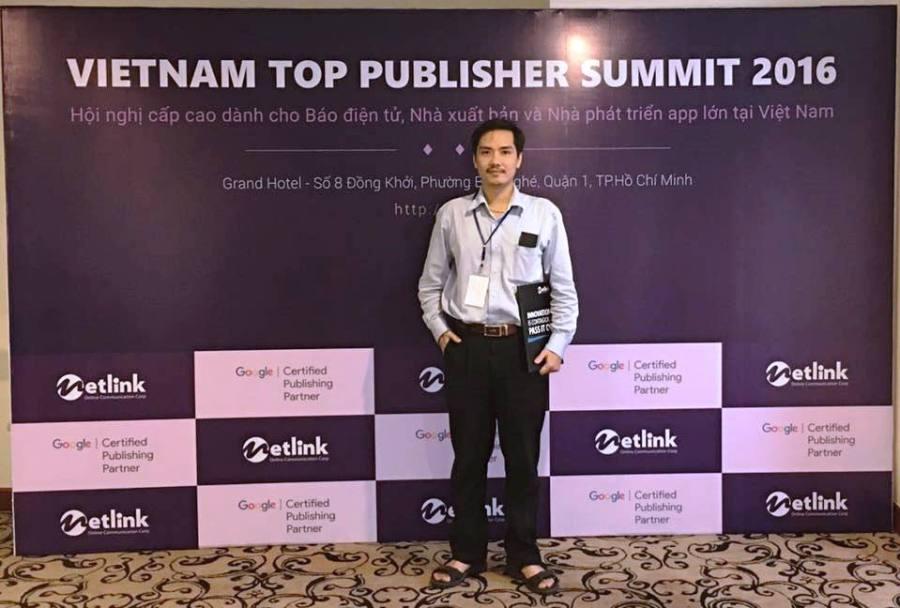 Ông Nguyễn Tường Châu - đại diện Công ty TNHH Tư vấn và Dịch vụ Quốc Gia (NTCServices) là một trong số các Publisher tham dự sự kiện này.