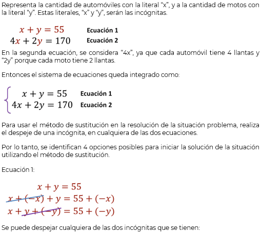 El Método De Sustitución Matemáticas Segundo De Secundaria Nte Mx Recursos Educativos En Línea