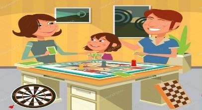ᐈ Familia ilustraciones dibujos de stock, vectores jugando en familia    descargar en Depositphotos®