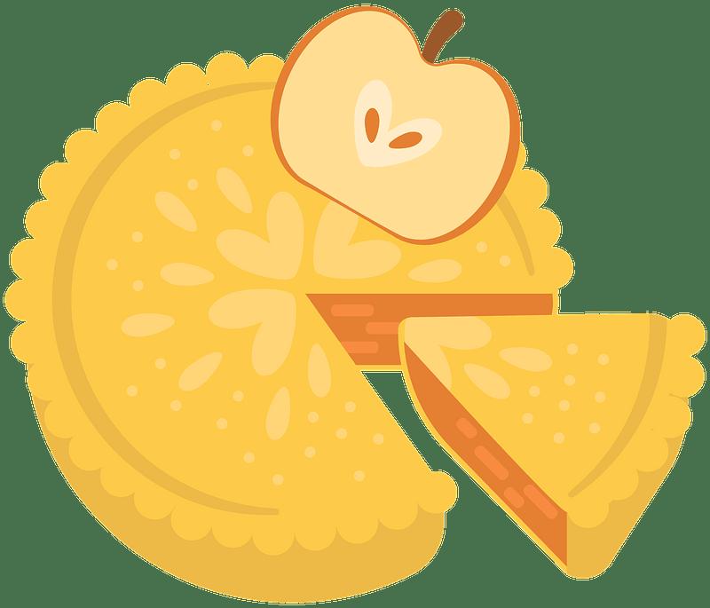 Pie de manzana clipart. Dibujos animados descargar gratis. | Creazilla