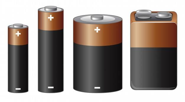 Diferentes tamaños de batería vector gratuito