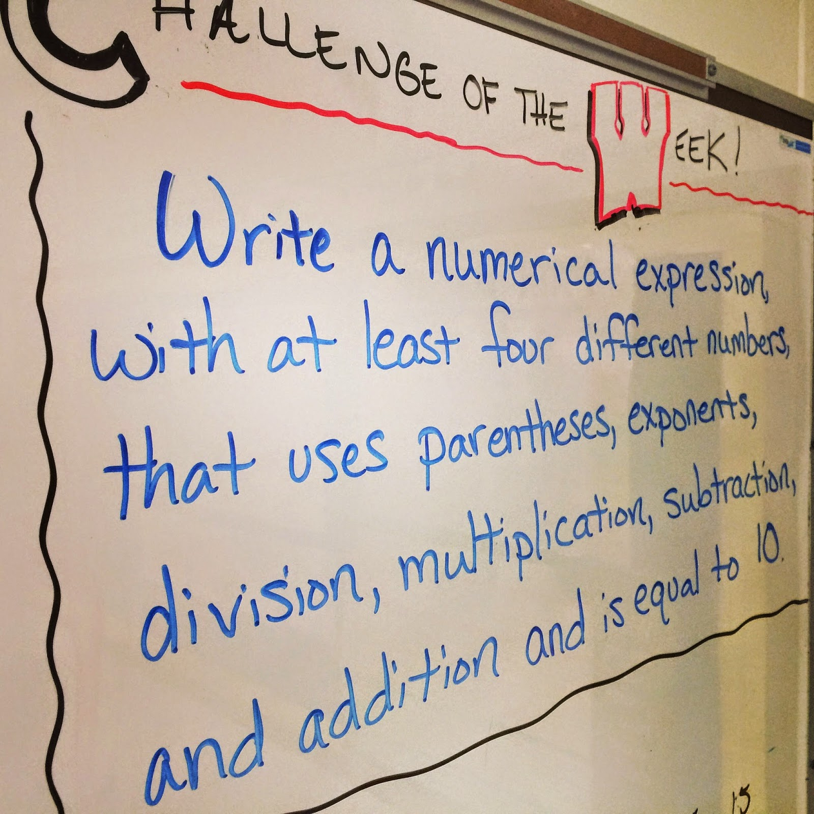 Challenge of the Week Order of Operations