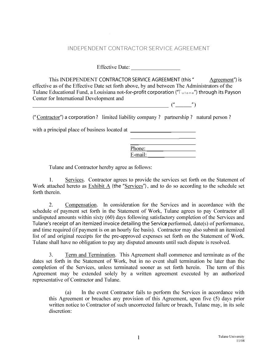 Independent Contractor Offer Letter Template Collection