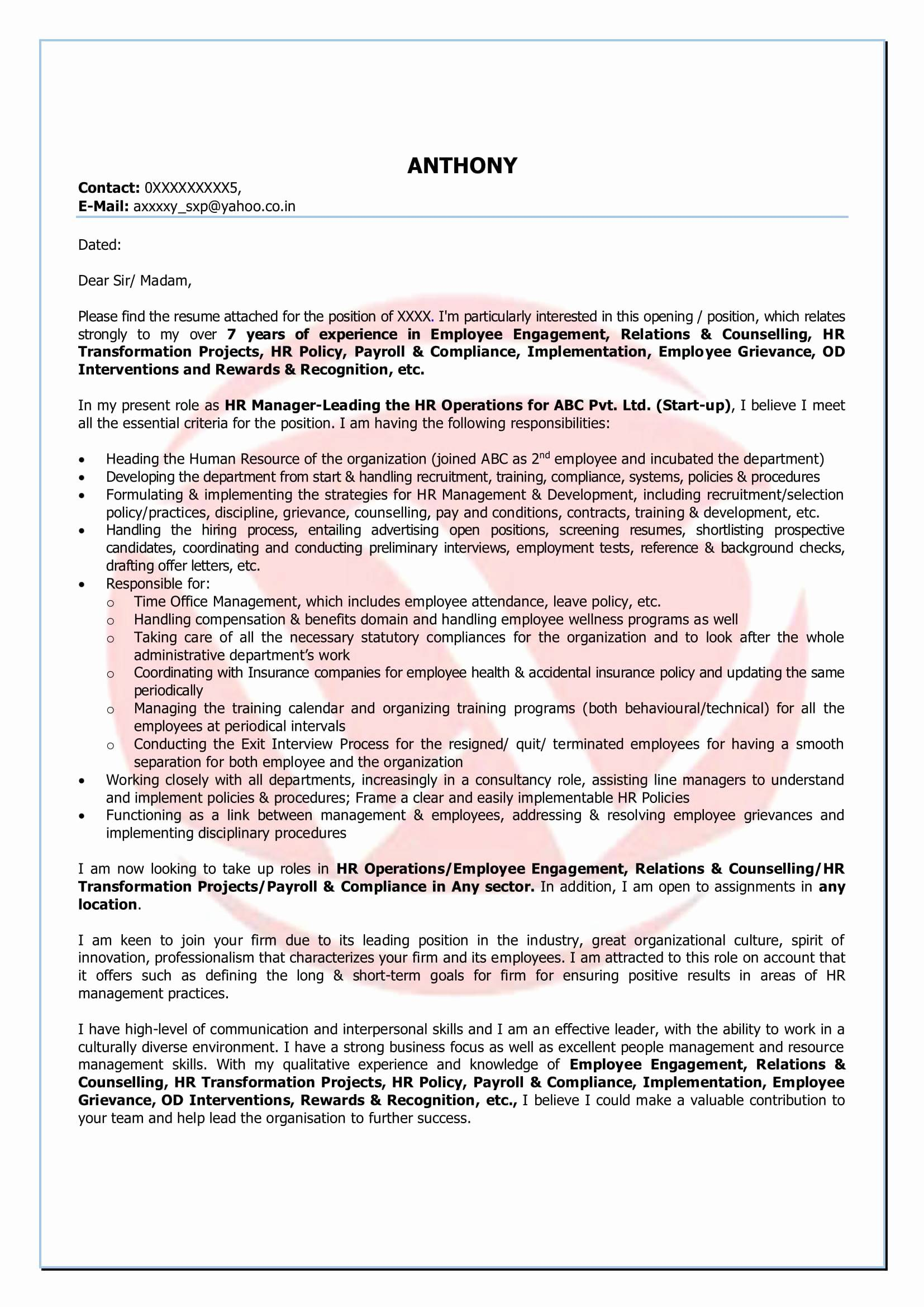 Monster Cover Letter Template Examples  Letter Cover Templates