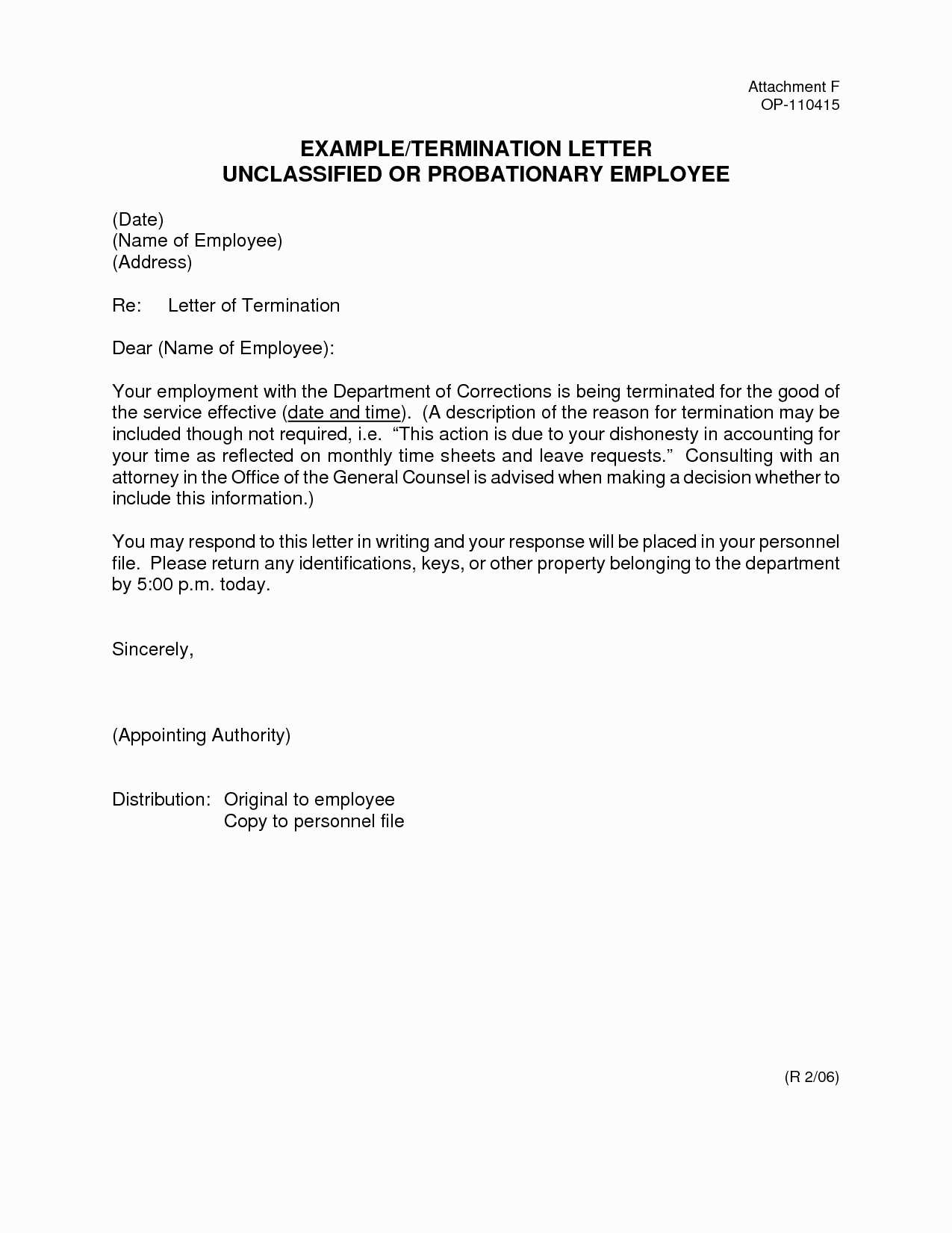 Generic Termination Letter Sample Employee Termination Letter Template Samples Letter Cover
