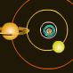 Imagen de las órbitas y los planetas del sistema solar