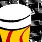 Dibujo de una partitura y unos bongós