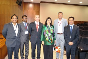 Novatek Director of Asia, Barry Prahbhu | Novatek President and CEO, Parsa Famili | Chairperson & Managing Director of Biocon, Ms. Kiran Mazumdar-Shaw | Mr. Stanley Gomes, Consul & Sr. Trade Commissioner Consulate General of Canada