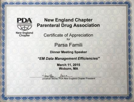 PDA NEW ENGLAND CHAPTER MARCH 2015