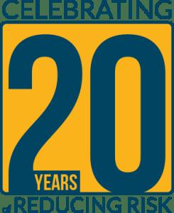 novatek international 20th anniversary badge
