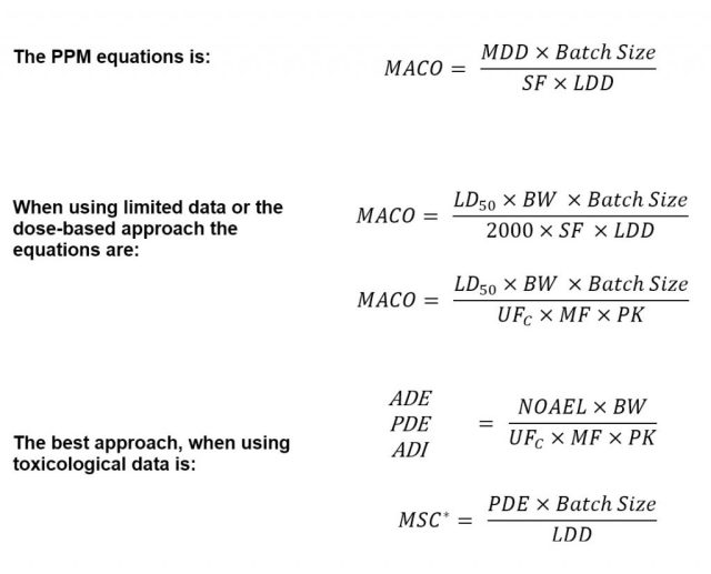 MACO Equations