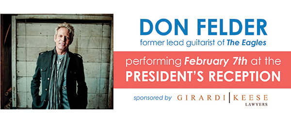 Image: Don Felder. Former lead guitarist for The Eagles will be performing at the 2017 Trial Lawyers Summit