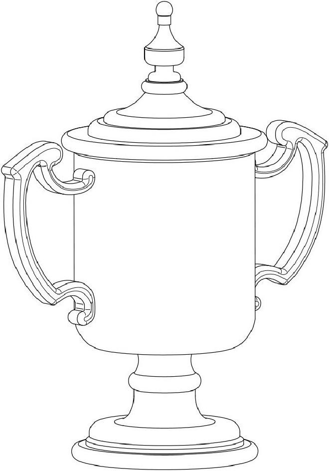 3-D Trophy Cup Design Registered to the United States