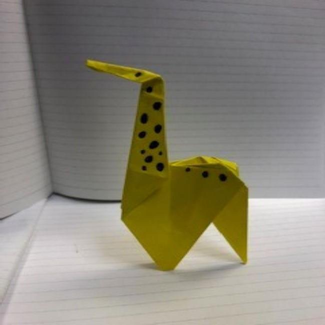 折り紙動物園シリーズ!きりんの登場です!