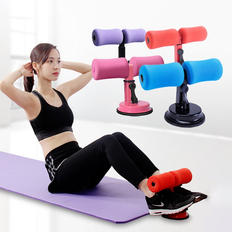 Abs Trainer Sit Up Bar Self Suction Abdominal Curl Exercise Push up Assistant Device Lose Weight
