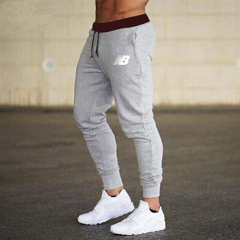 Autumn Winter Men s Jogging Sweatpants New 100 Cotton Men s Fitness Multi Pocket Jogging Pants