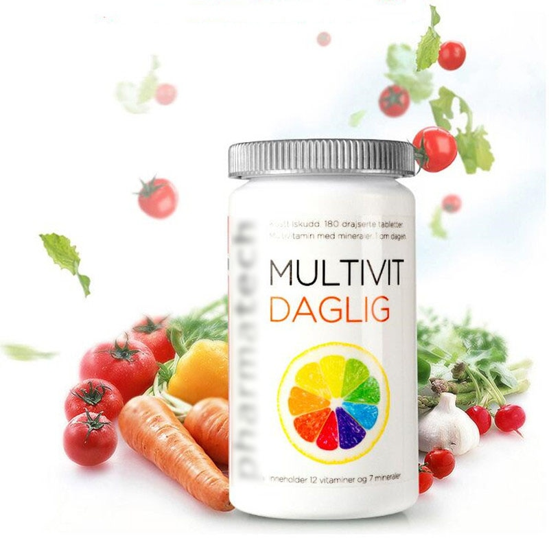 Comprehensive multi vitamin minerals promote metabolism Enhance physical fitness 180 pcs bottle