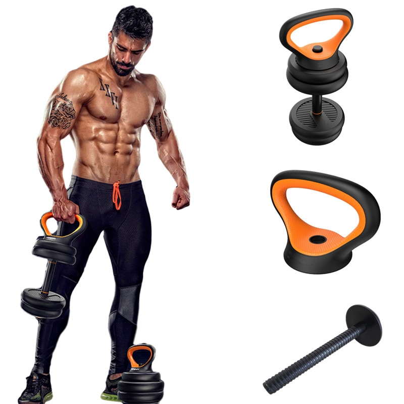 Gym Home Fitness Adjustable Kettlebell Handle Use With Weight Plates Arm Strength Workout Kettle Bell Grip
