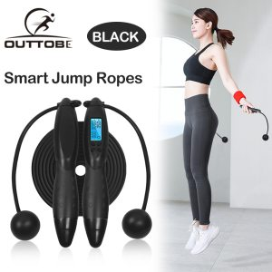 Outtobe Smart Jump Rope Fitness Sport Skipping Ropes with Anti Slip Hand Grip with Anti Slip 1