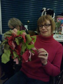 Rag wreath making