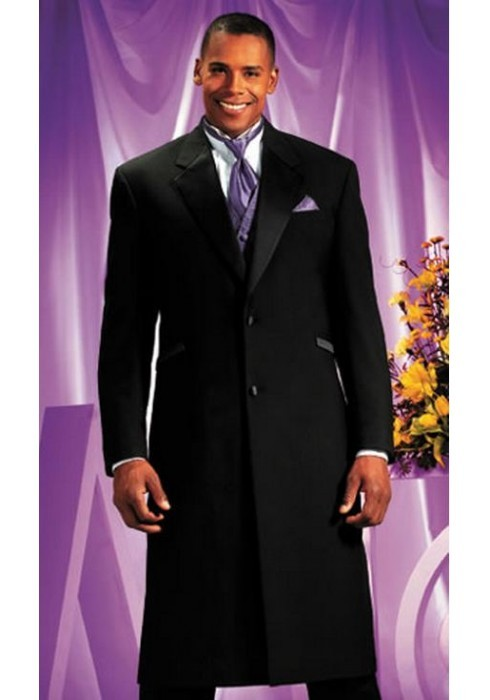 Long Black Tuxedo  2Button  Notch Lapel